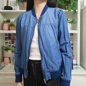 Thin Medium Wash Denim Jacket